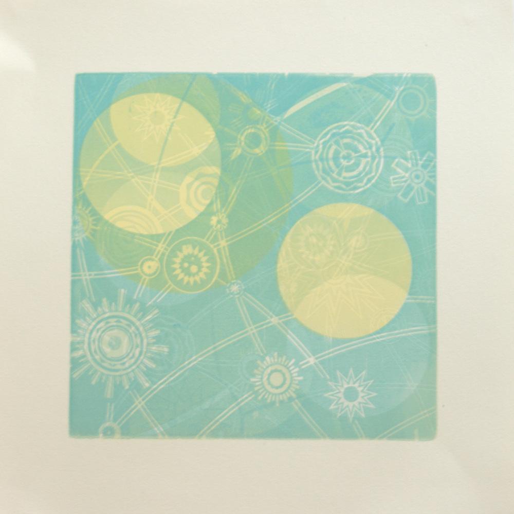 "Woodcut Monoprint 15"" x 15"""