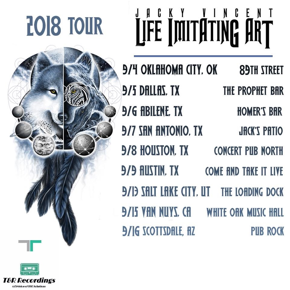 T&R Recordings Events: Life Imitating Art Fall 2018 Tour Featuring Jacky Vincent, The Beast Of Bailey Downs & Guests
