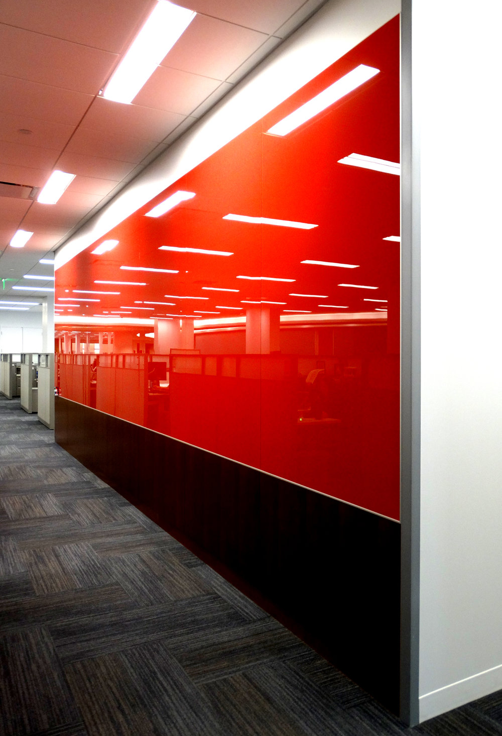 Custom Color Red Full Height Marker Board Millwork - Spaceworks AI.jpg