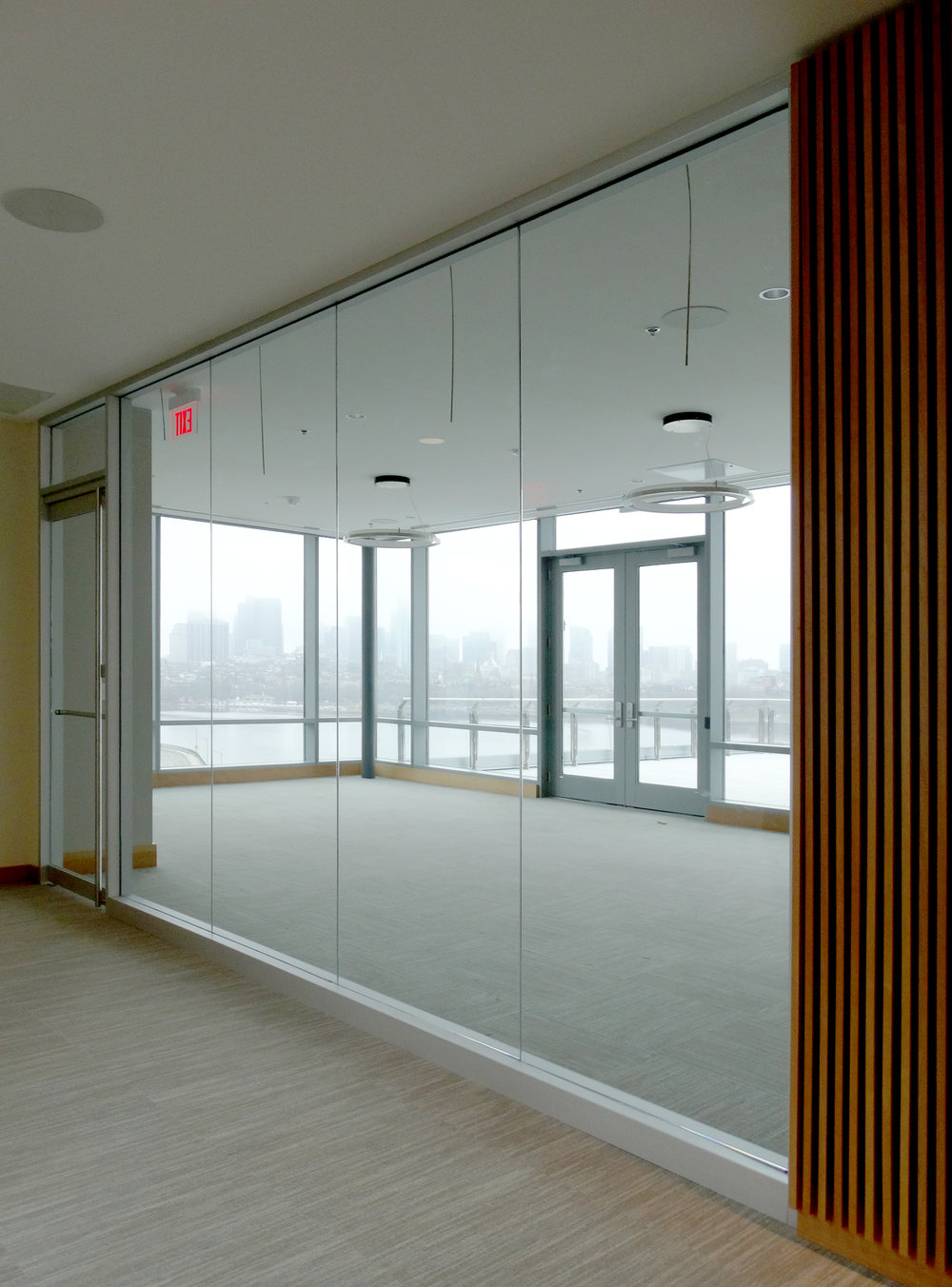 Encase Aluminum Framed Conference Wall Rail Glass Door - Spaceworks AI.jpg