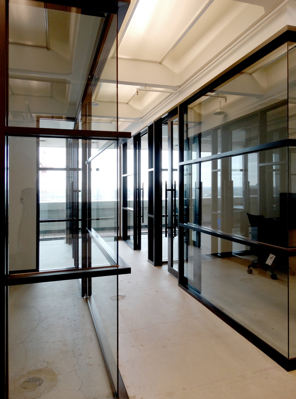 Encase Black Aluminum Horizontal Mullion Glass Wall - Spaceworks AI.JPG