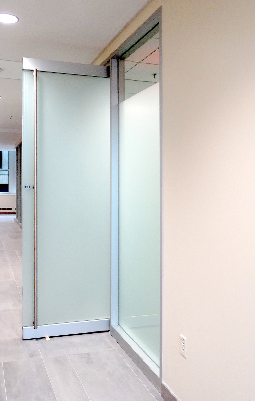 Encase Aluminum Framed Wall Frameless Glass Rail Door - Spaceworks AI.jpg
