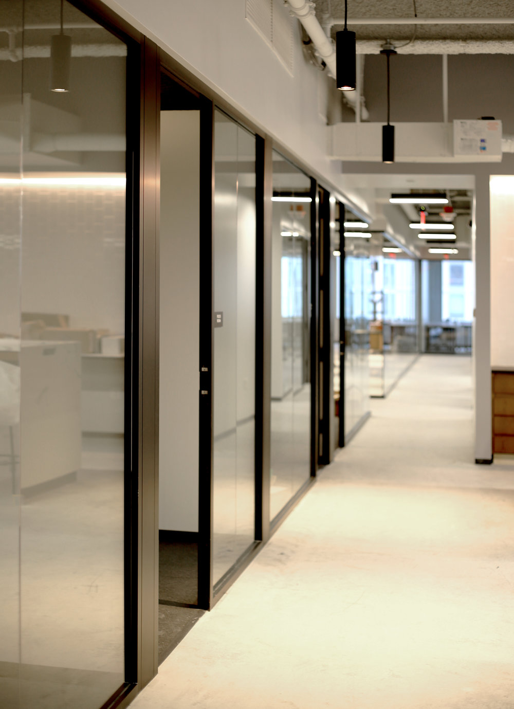 Litespace Black Demountable Aluminum Framed Office Fronts - Spaceworks AI.jpg