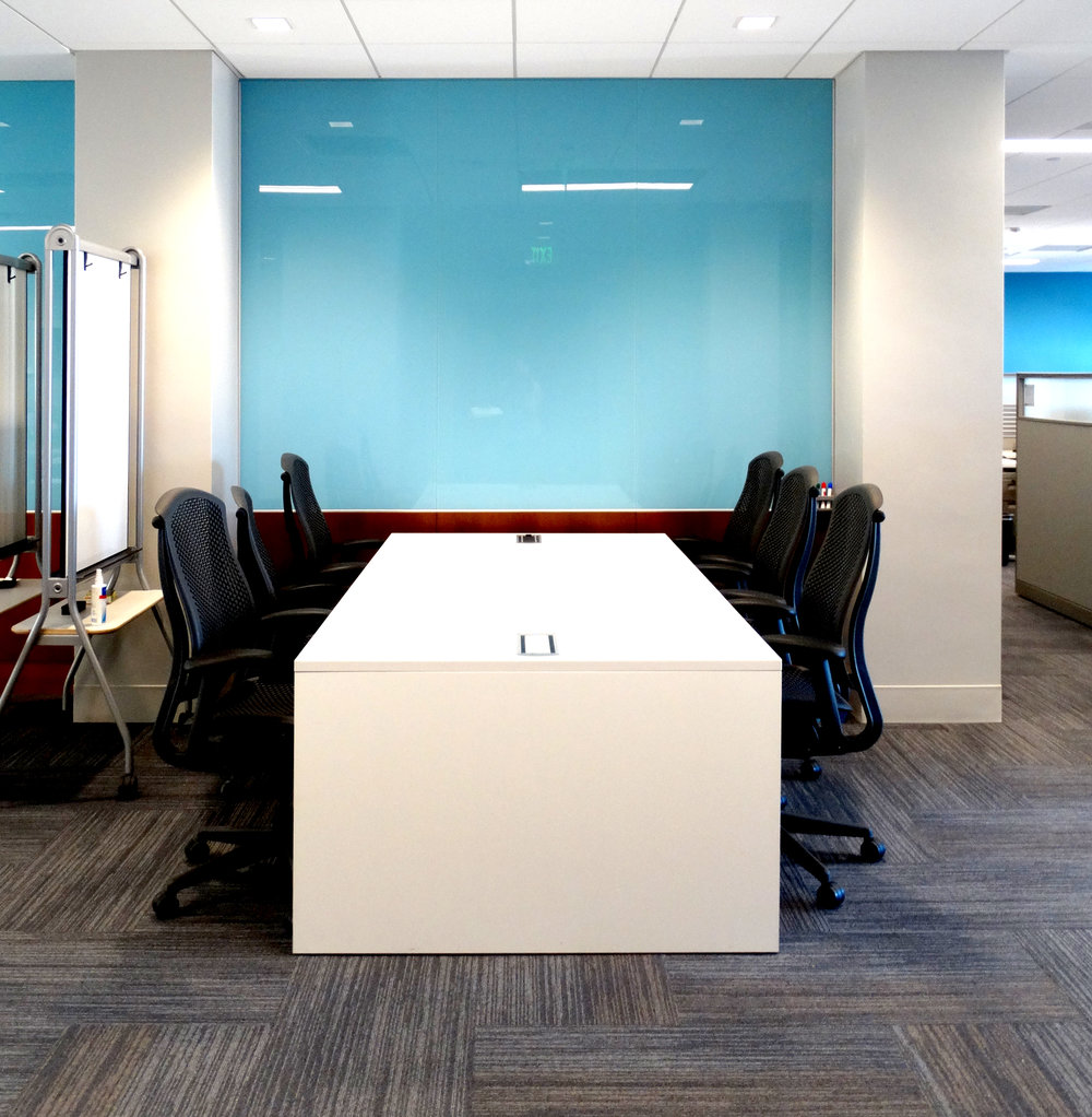 Blue Glass Marker Board Wall Conference Area - Spaceworks AI.jpg