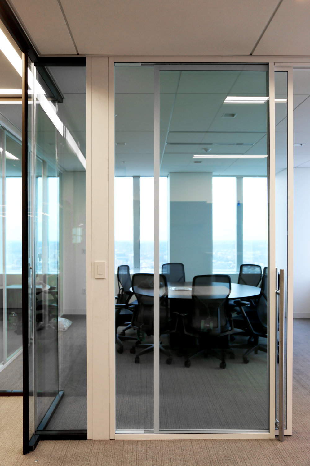 Modernus Aluminum Framed White Powder Coat Glass Walls - Spaceworks AI.jpg