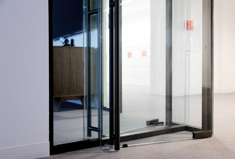 Modernus Double Frameless Glass Door Glass Return - Spaceworks AI.jpg