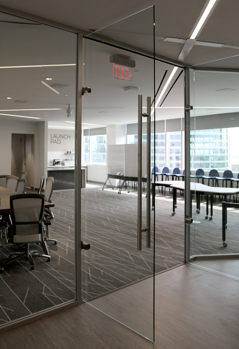 Litespace Reception Frameless Glass Double Door Aluminum Framed System - Spaceworks AI.jpg