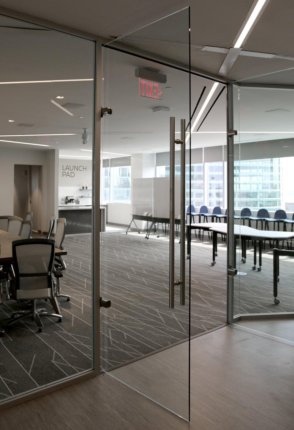 Litespace Reception Frameless Glass Double Door Aluminum Framed System - Spaceworks AI.jpg