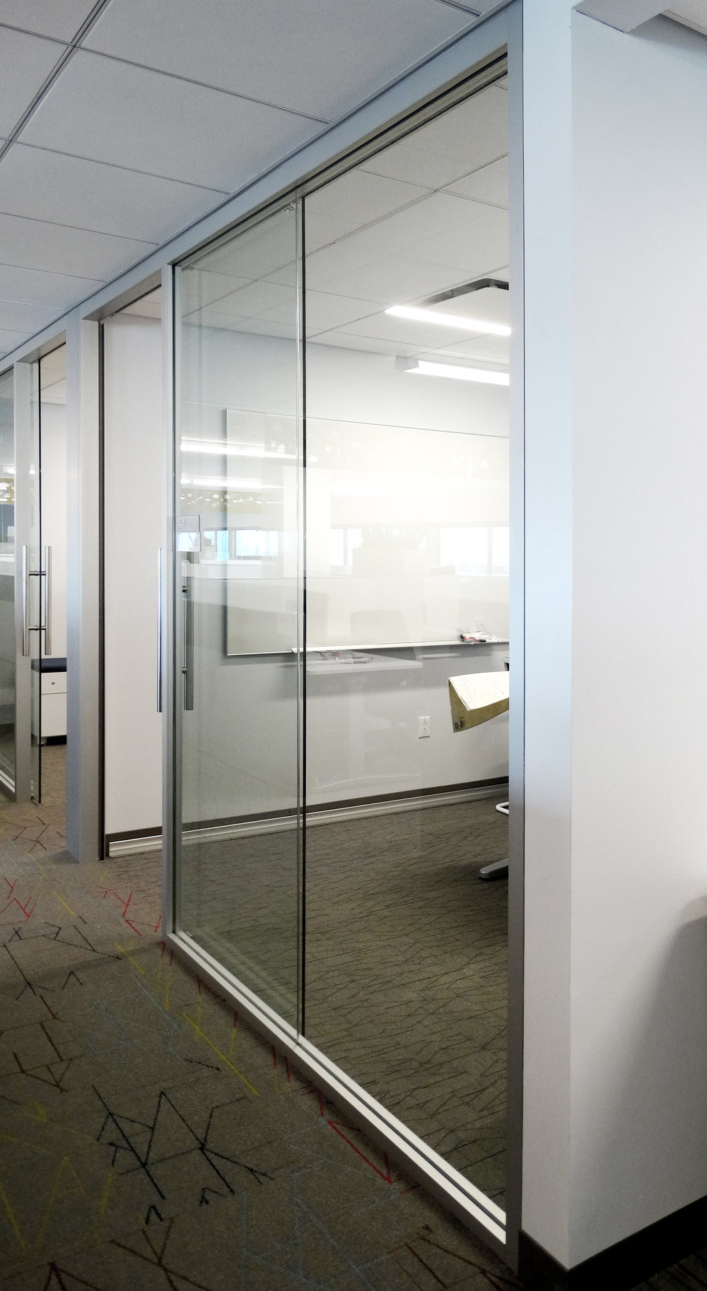 Litespace Aluminum Framed Butt Glazed Office Glass Sidelite - Spaceworks AI.jpg