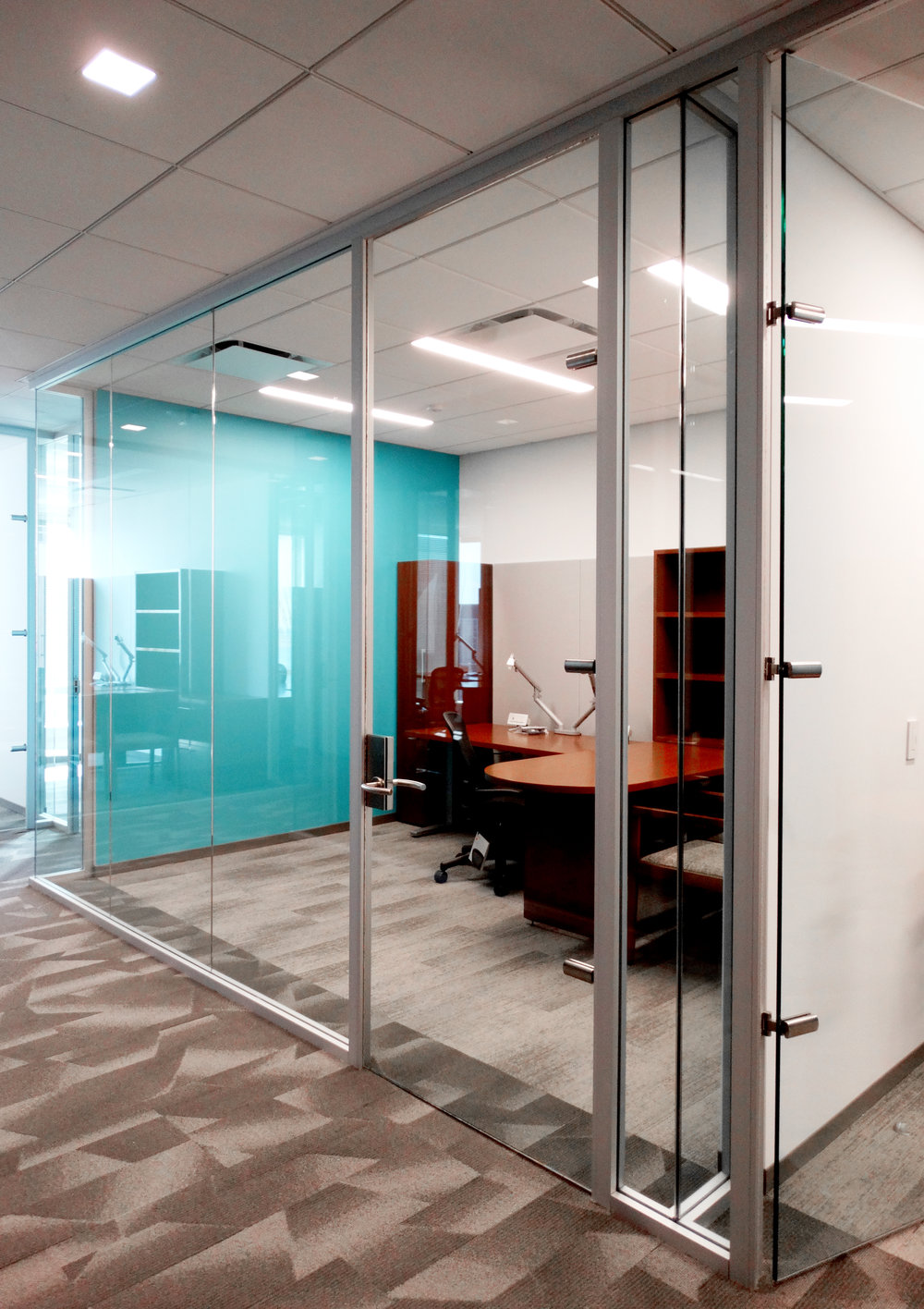 Litespace Glass Doors Aluminum Framed Wall - Spaceworks AI.jpg