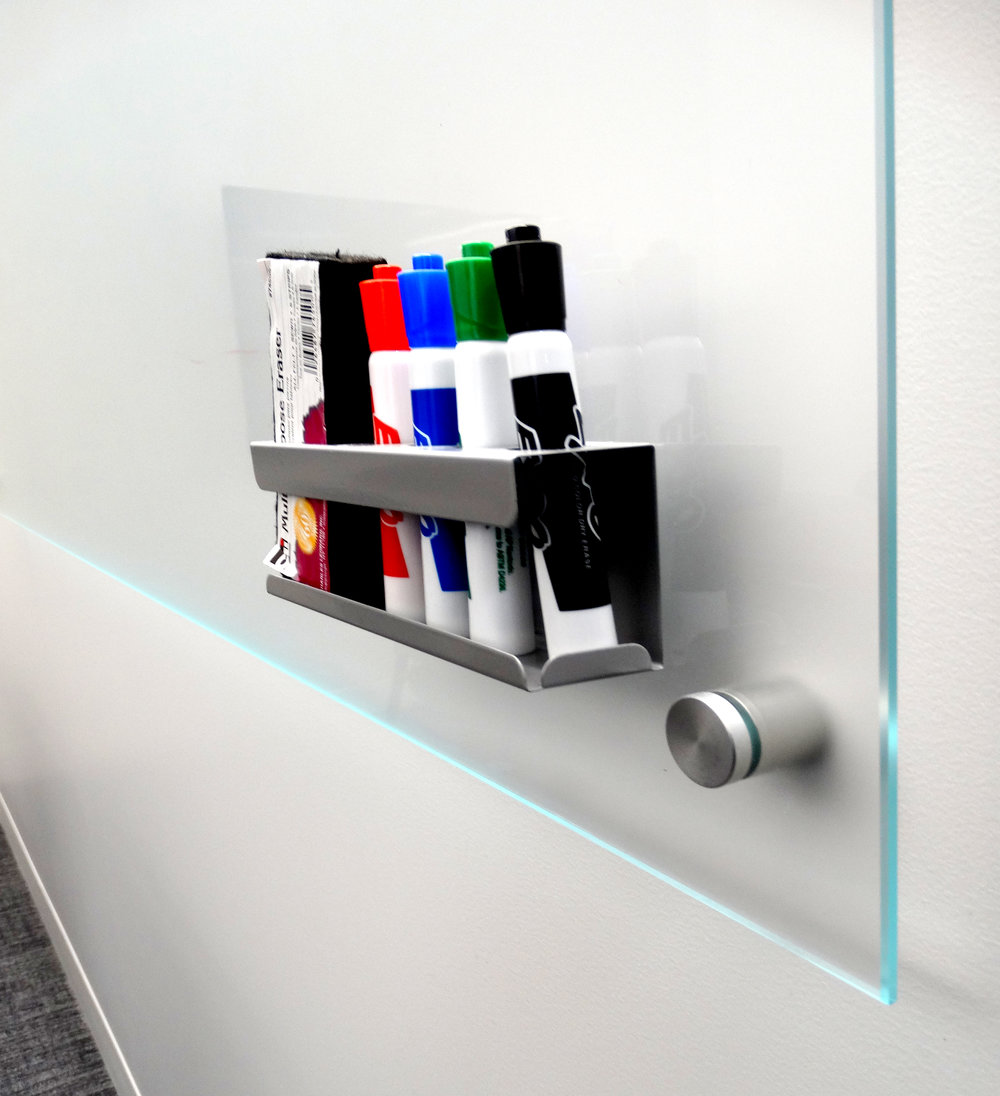 Clear Glass Marker Board Marker Tray Standoff Mounted - Spaceworks AI.jpg