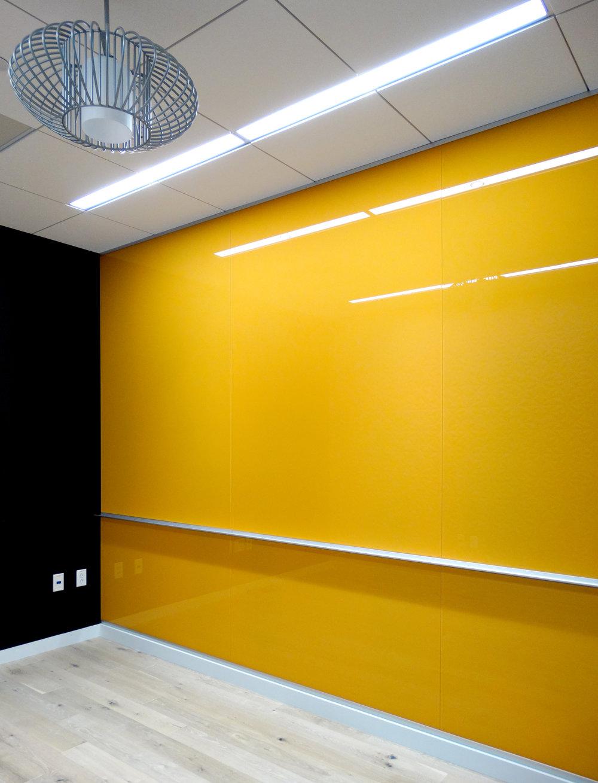 Custom Color Yellow Full Wall Marker Board - Spaceworks AI.jpg