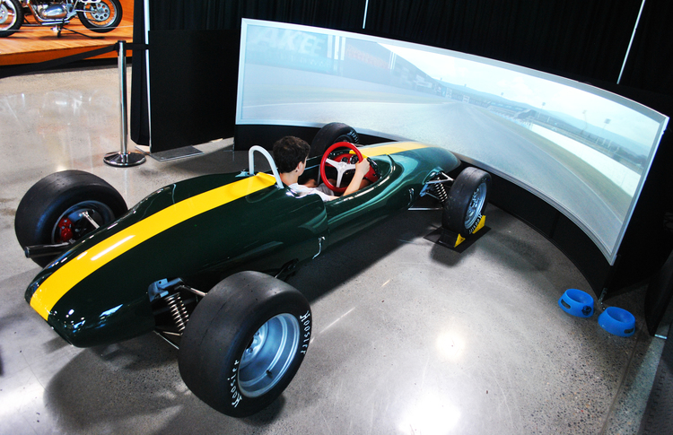 The Lotus Simulator as it sits in the World of Speed Museum today