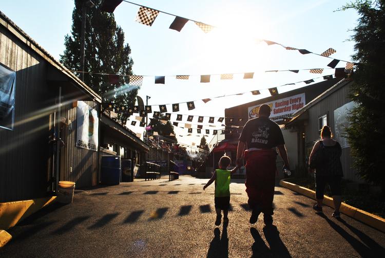 Photo taken at Sunset Speedway, OR