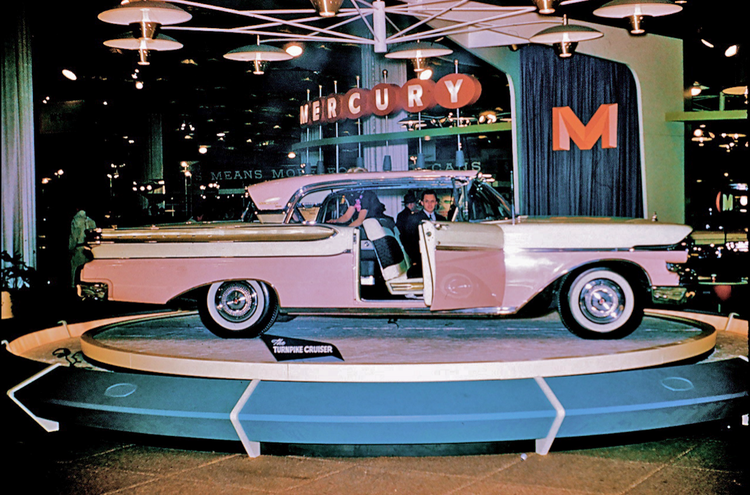 ORCHID MIST 1957 TURNPIKE CRUISER at the MIAMI BEACH AUTO SHOW- - Photo courtesy of Charles Phoenix