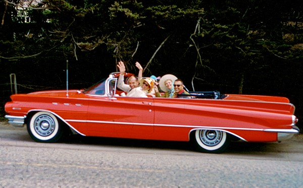 TOP DOWN SUMMER FUN in a TAMPICO RED 1960 INVICTA CONVERTIBLE BY BUICK - Photo courtesy of Charles Phoenix