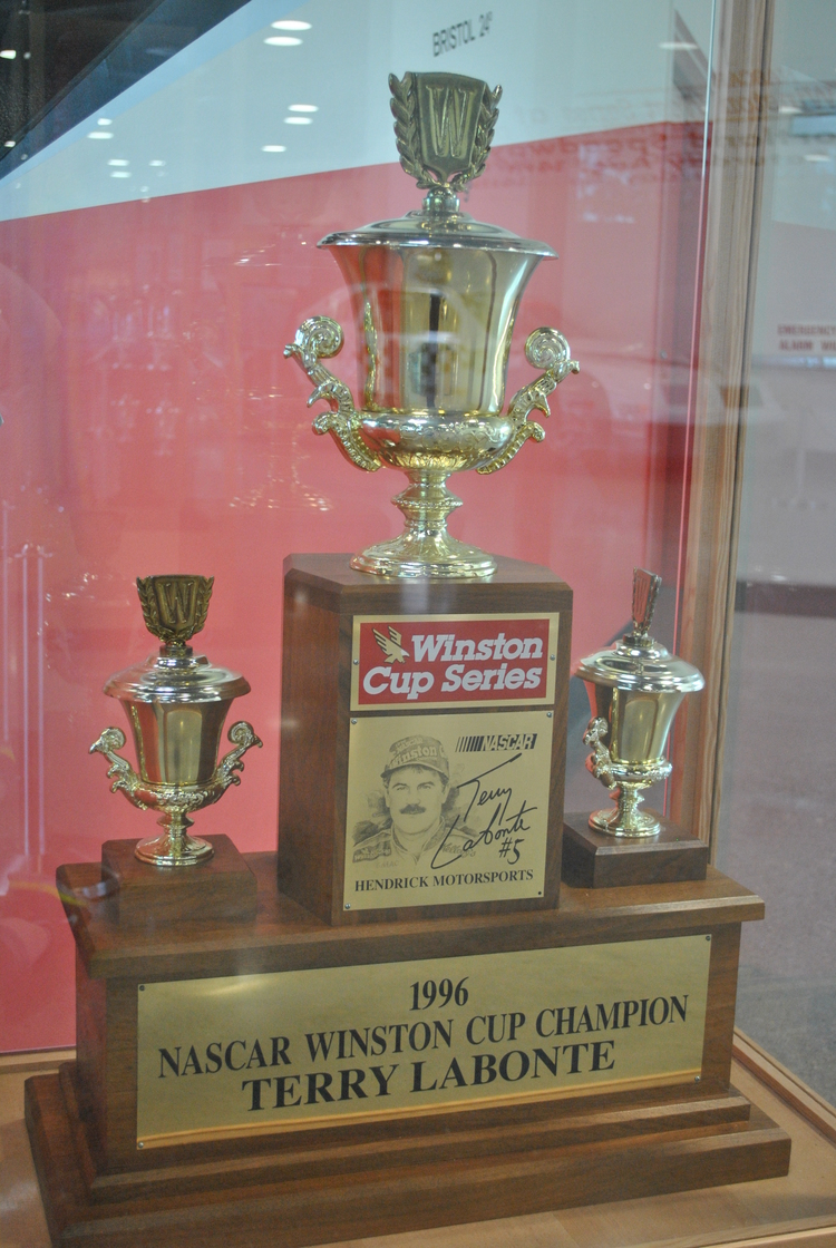 The Terry Labonte 1996 NASCAR Championship trophy