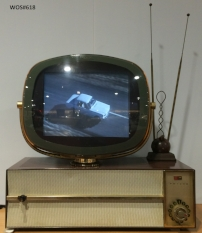 This originally TV was not working until the monitor was replaced, allowing people to experience the TV once again.