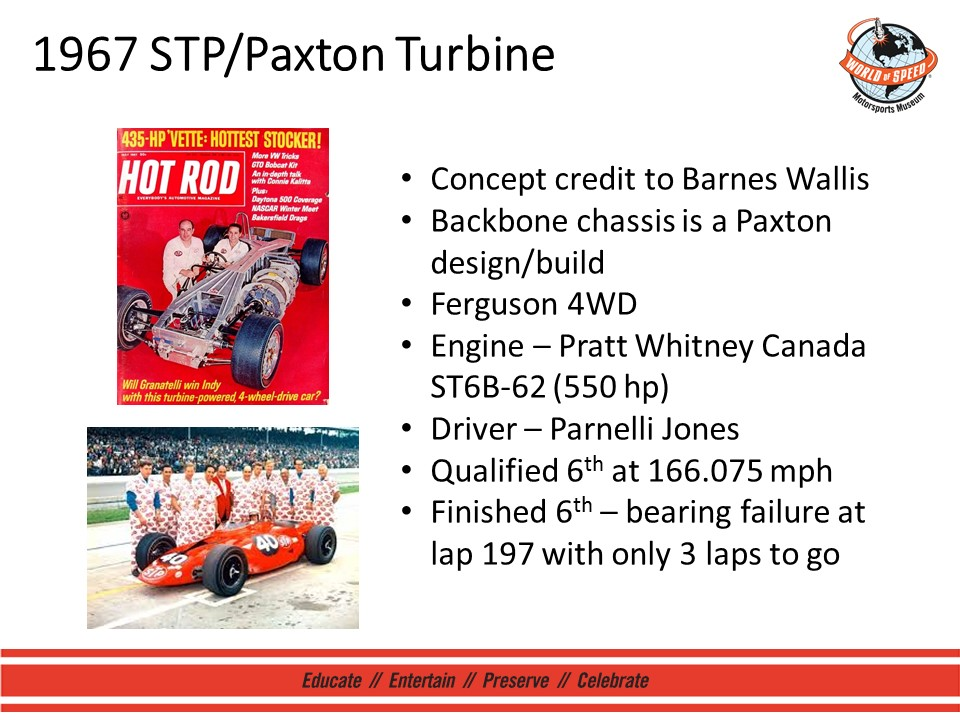 Developing the granatelli race cars world of speed 1967 stppaxton turbine when studebaker ended production in the mid 1960s andy took the opportunity to buy back paxton products armed with a company malvernweather Gallery
