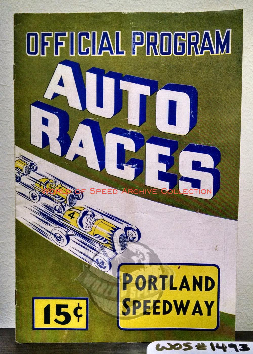 1949 Portland Speedway program