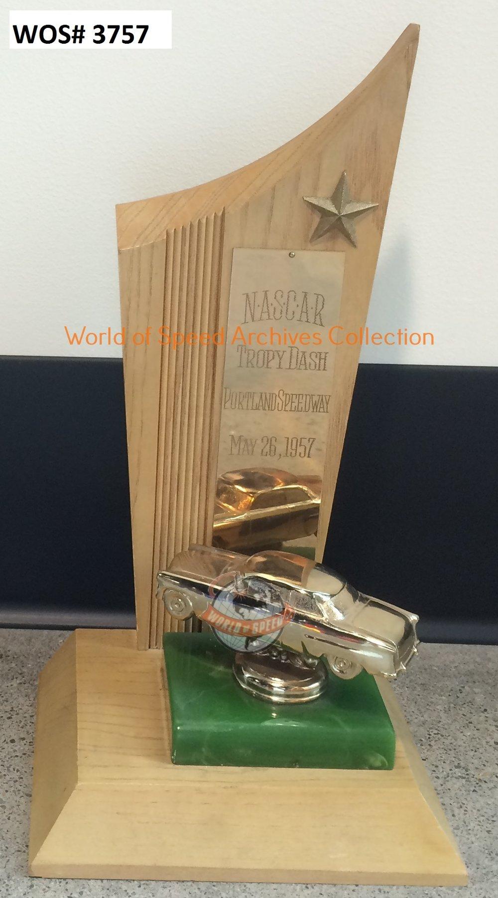 """1952 NASCAR """"tropy dash"""" trophy"""