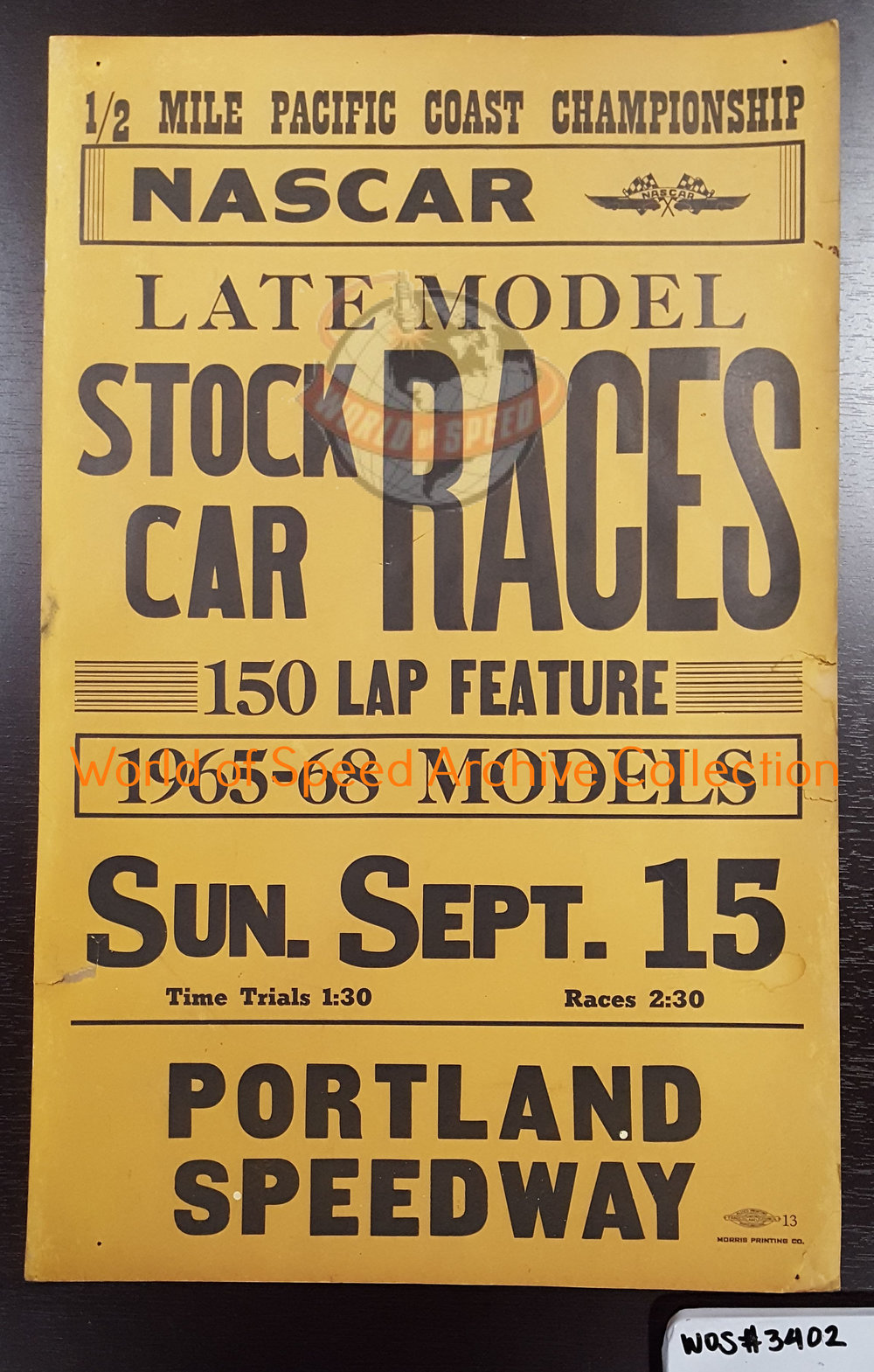 1968 Pacific Coast Championship poster