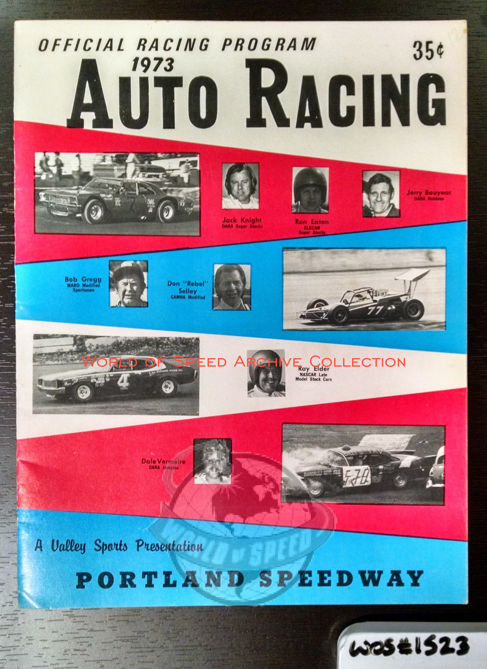 1973 program with images of famed PNW drivers of the time