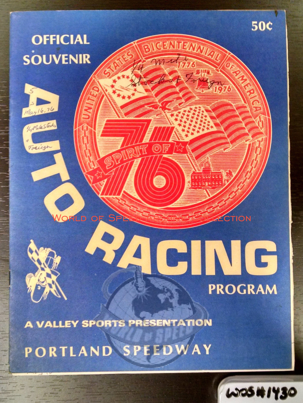 1976 program celebrates 50 years of Portland Speedway