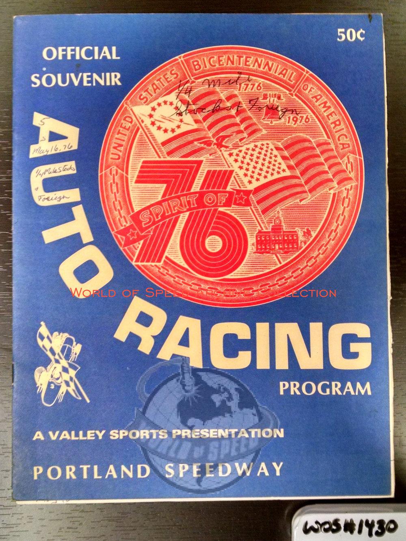 1976 program celebrates 50 years of Portland Speedway