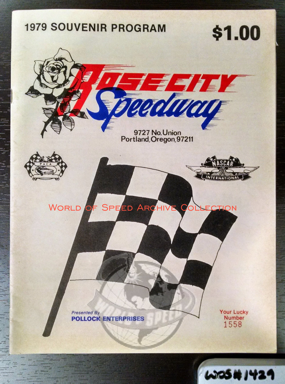 1979 program for when Portland Speedway was shortly re-branded as Rose City Speedway