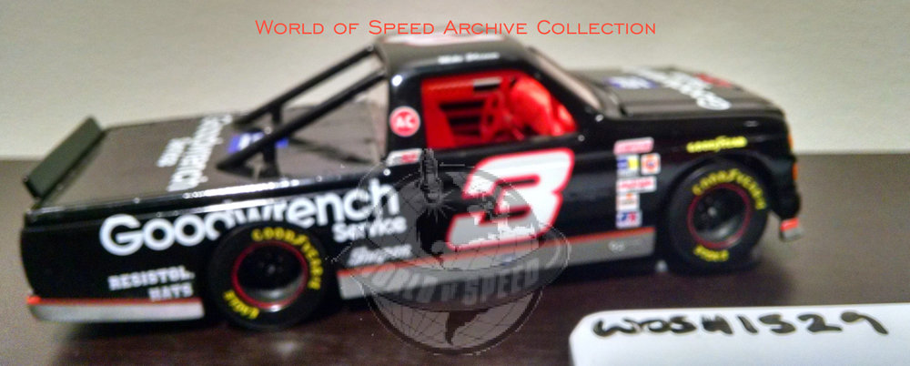 1995 model car of NASCAR Camping World Truck series winner Mike Skinner, at Portland Speedway
