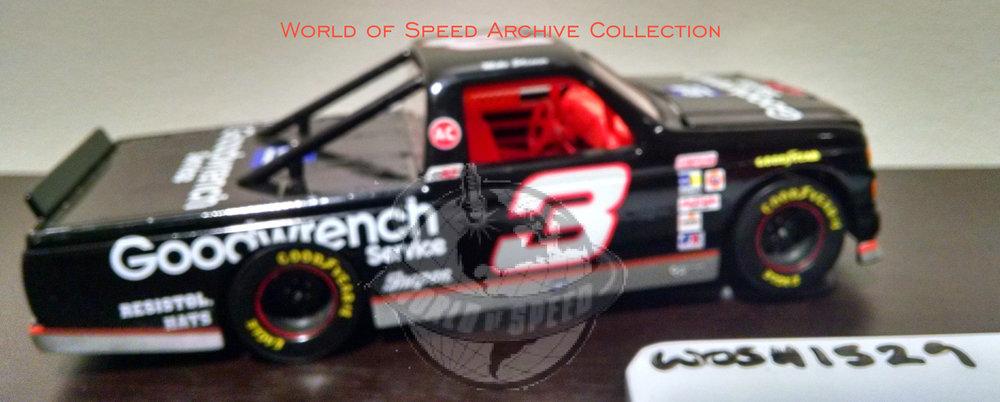 1995 model car of NASCAR Camping World Truck series winner Mike Skinner, at Portland Speedway