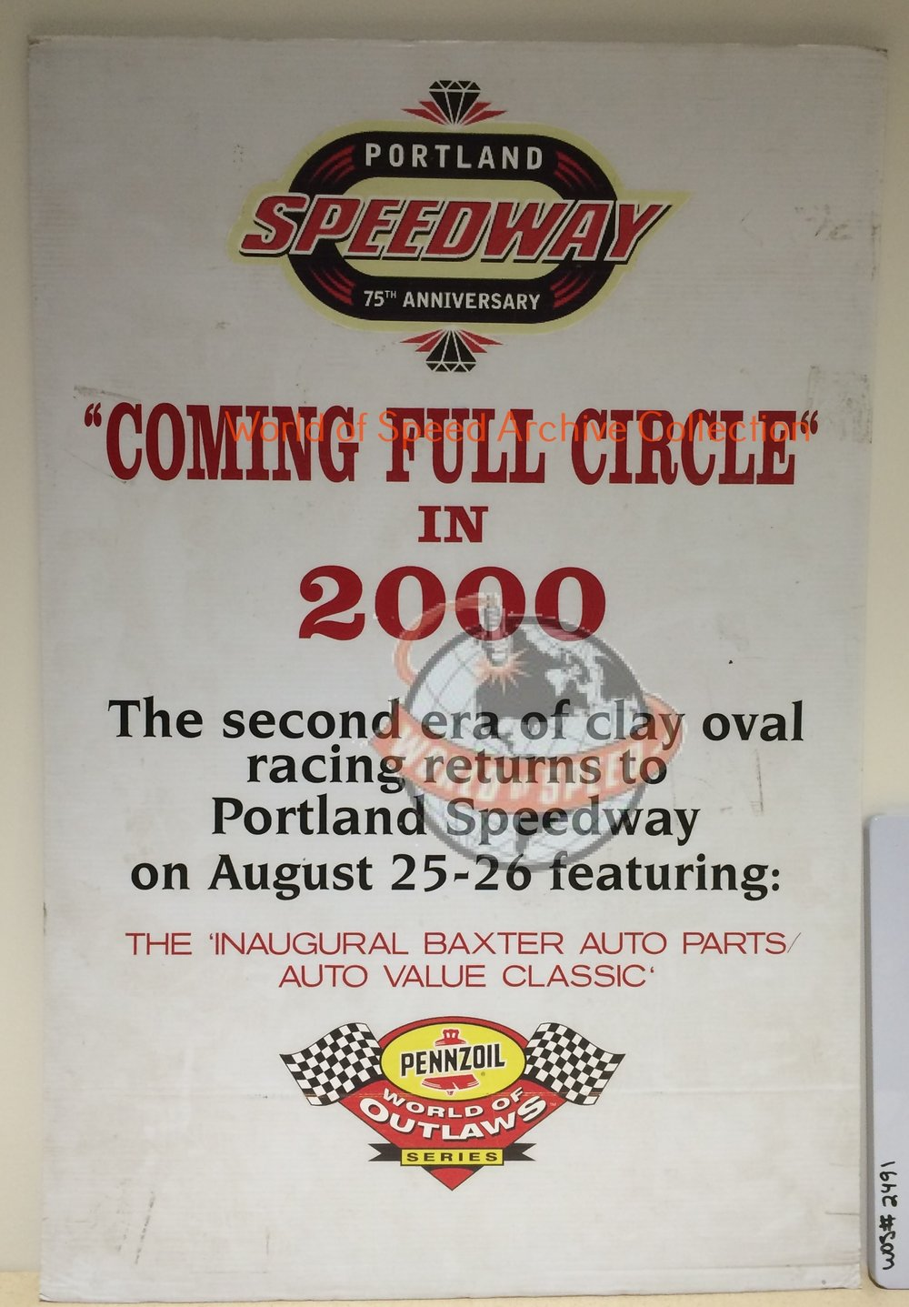 2000 World of Outlaw came to Portland Speedway for its 75th anniversary
