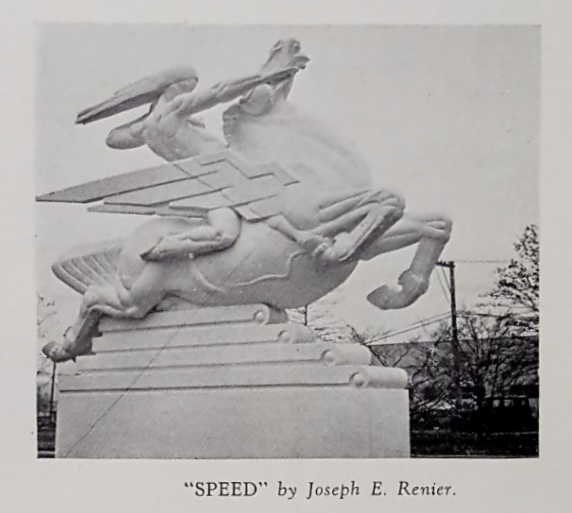 """Accompanying image to """"Sculpture"""" section of New York World's Fair Official Guide Book, 1939, page 21, WOS#2955"""