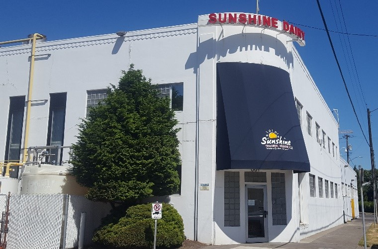 Sunshine Dairy, 1948, architect Claussen & Claussen. (Photo: Sara Paulson, 2018)