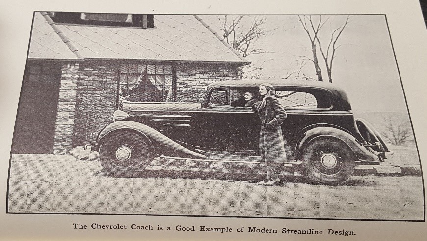 Photo illustration from  The Chevrolet Six Car and Truck  by Victor W. Page, 1940, page 475, WOS#2940
