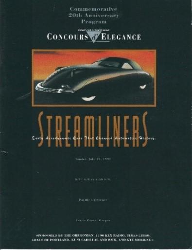 Forest Grove Concours D'Elegance Program, 1992, WOS#3511