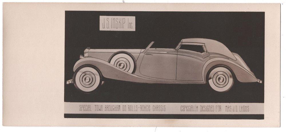 J.S. Inskip Inc. Rolls Royce Promotional Cards, WOS#3843