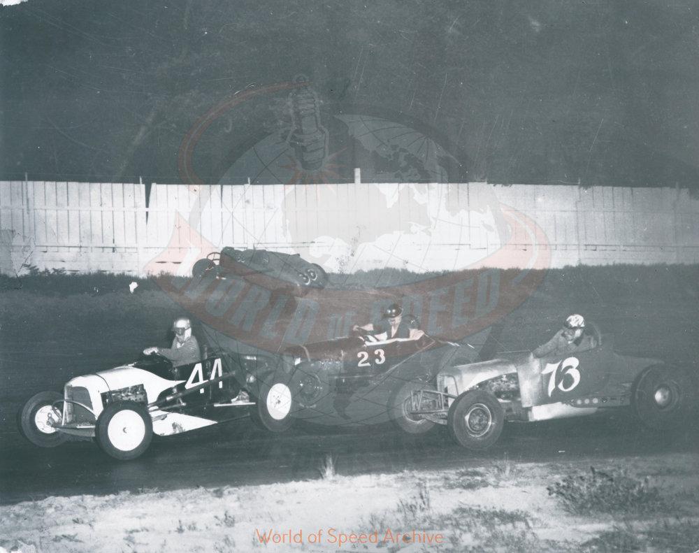 JG.06.A - Howard Osborne (44), Wild Bill Hyde (23), Max Humm (73), Salem Hollywood Bowl 1950