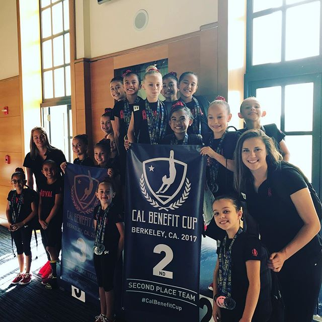 Level 3 and 4s with their banners at the Cal Benefit cup at UC Berkeley 10/8/2017