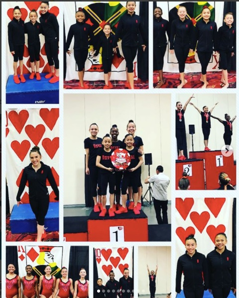 Optional and Xcel teams at the Lady Luck Invitational 1/12/2018-1/13/2018  Our Xcel and Optional teams brought home fourteen 1st Place medals, ten 2nd place medals, and eight 3rd place medals for individual events! Xcel Bronze and Silver won 4th place team, Xcel Gold won 5th place team, and our level 6 girls brought home a 1st place team scoring the highest score out of the entire competition!!! WOW!  And a special recognition to our All Around (AA) champions: Lavinia 2nd place, Melissa 2nd place, Nadia 2nd place, Amyah 3rd place, Samantha 3rd place, Madison 2nd place, Alexa 1st place, and Pia 1st place!! A HUGE shoutout to Alexa scoring a 9.9 on beam!! And Pia scoring a perfect 10.0!!
