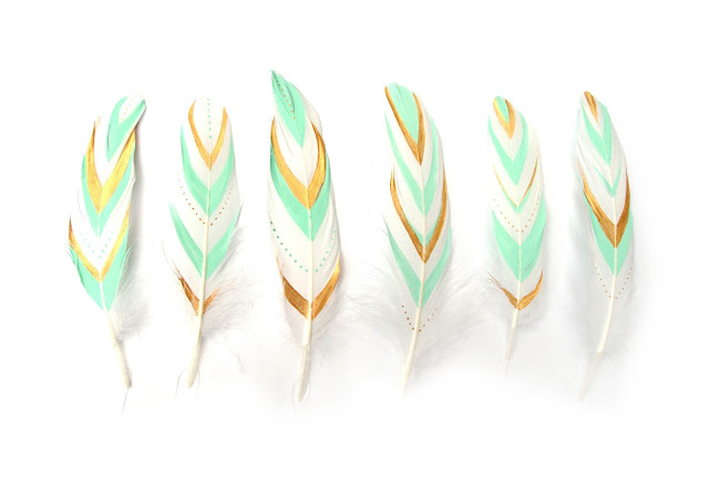 Mint Gold Feather Tree Ornaments Large.jpg