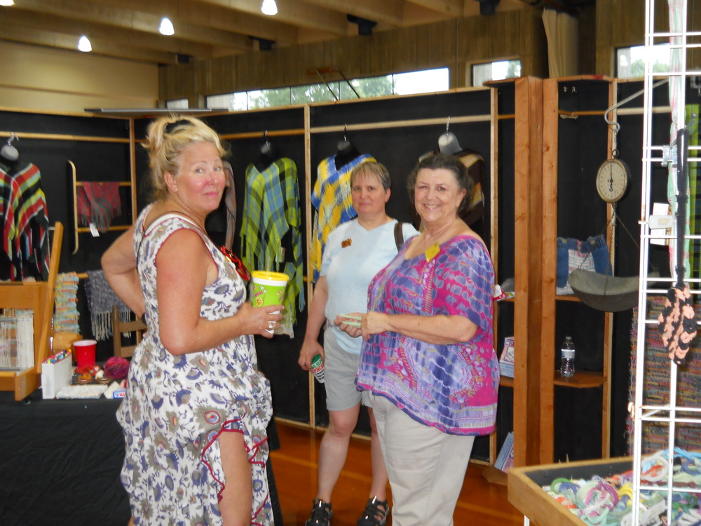 Fiber artist, Andy Lyle of Andy's Treasures, discusses her woven work with guests at last year's TN Creates. Andy will have a variety of items to dress yourself or your home.
