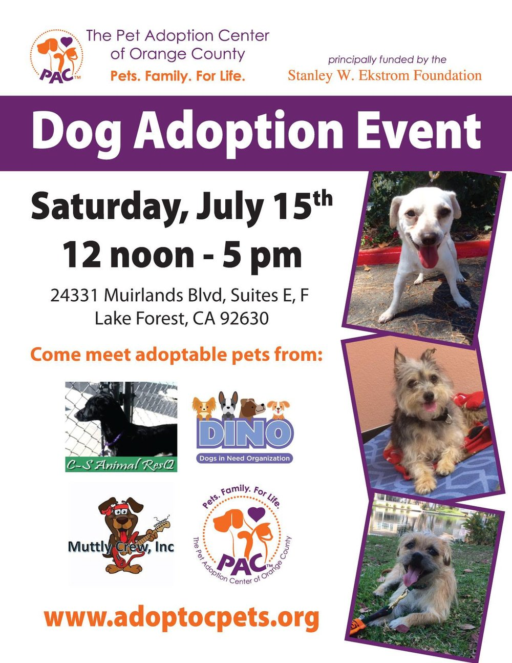 Dog Adoption Event — Stanley W Ekstrom Foundation