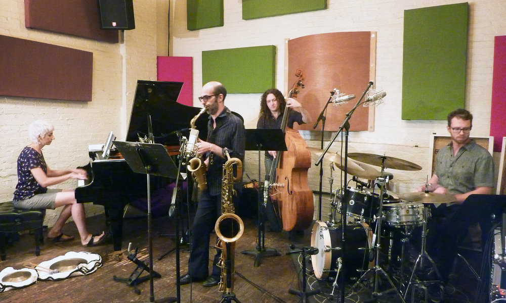 with Ditmas Quartet during our Live At IBeam recording
