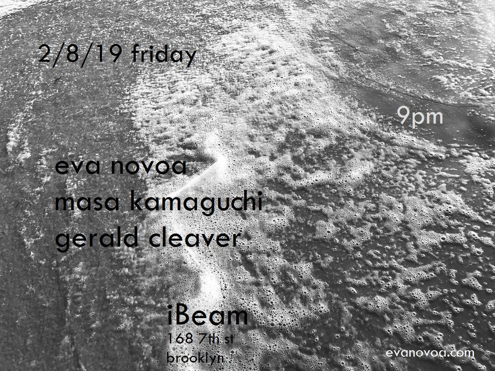 hi all,  this is happening this friday 2-8 at 9pm, iBeam.  playing trio music with  Masa Kamaguchi  on bass and  Gerald Cleaver  on drums.  hope to see you!!  peace,  e   $15       100% music - no alcohol    iBeam   168 7th st  Brooklyn, NY 11215  F/G trains to 9 st - 4 av stop