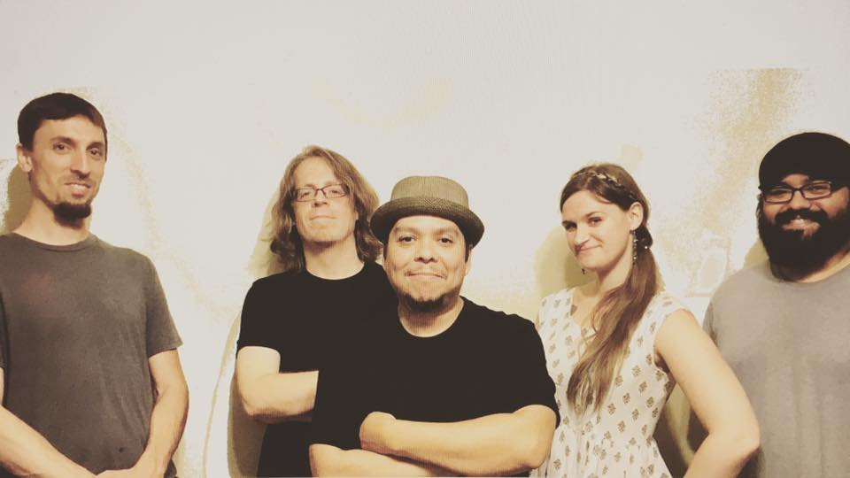 NASHVILLE, TN. CREW - from Left to right.Nate Felty Drums, Aaron Hatmaker Bass, Ady Hernandez Vocals/guitar, Aubryn Stevens Vocals/guitar, Mitch Quintanilla Keys/Sax
