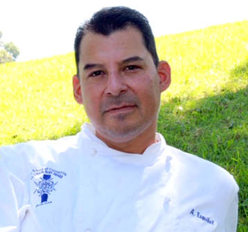 Meet the Chef: - Chef Aaron Esquibel began his culinary adventure at the age of 10. Inspired by his grandmother's cooking, he loved helping alongside her in the kitchen, learning all the tastes and smells of her hometown in Juarez, Mexico. He continued his culinary path at Le Cordon Bleu, graduating class of 2000. After that he worked at several upscale establishments in all aspects of the kitchen. Including, Hollywood Roosevelt Hotel, Windows, Patina Group and spent several years as the executive pastry chef at the Ritz Carlton in Pasadena. He also received a write up in LA Magazine for his role as Chef de Cuisine for Market restaurant.