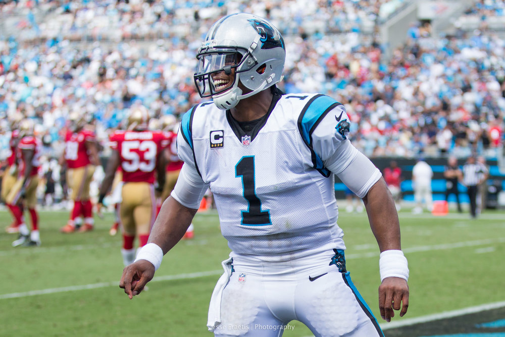 An excited Cam Newton