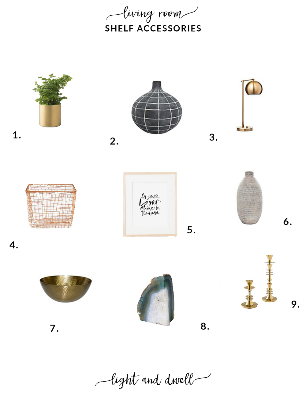 Inspiration Living Room Shelf Accessories 4 Elm Light Wiring Diagram Brass Table Lamp Target Copper Wire Basket West 5 Let Your Shine In The Dark Oh My Deer On Etsy 6 White Vase 7